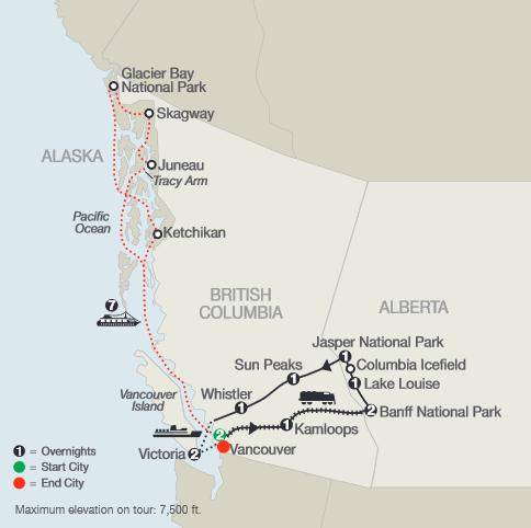 Globus - Spirit of the Rockies with Alaska Cruise Extension ...