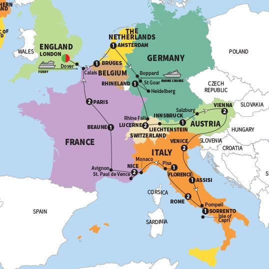 Grand European 2020 Presale - Travelsmart on st. paul hotels map, saint paul de vence tourism, barra de navidad mexico map, saint remy de provence map, city of saint paul map, saint jean cap ferrat map,